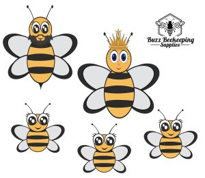 Honey Bee Family Car Stickers