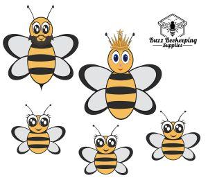 Honey Bee Family Car Stickers